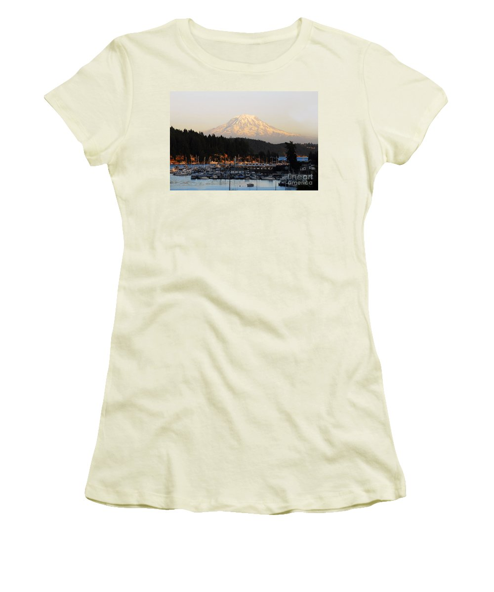 Gig Harbor Washington Women's T-Shirt (Athletic Fit) featuring the photograph Gig Harbor by David Lee Thompson