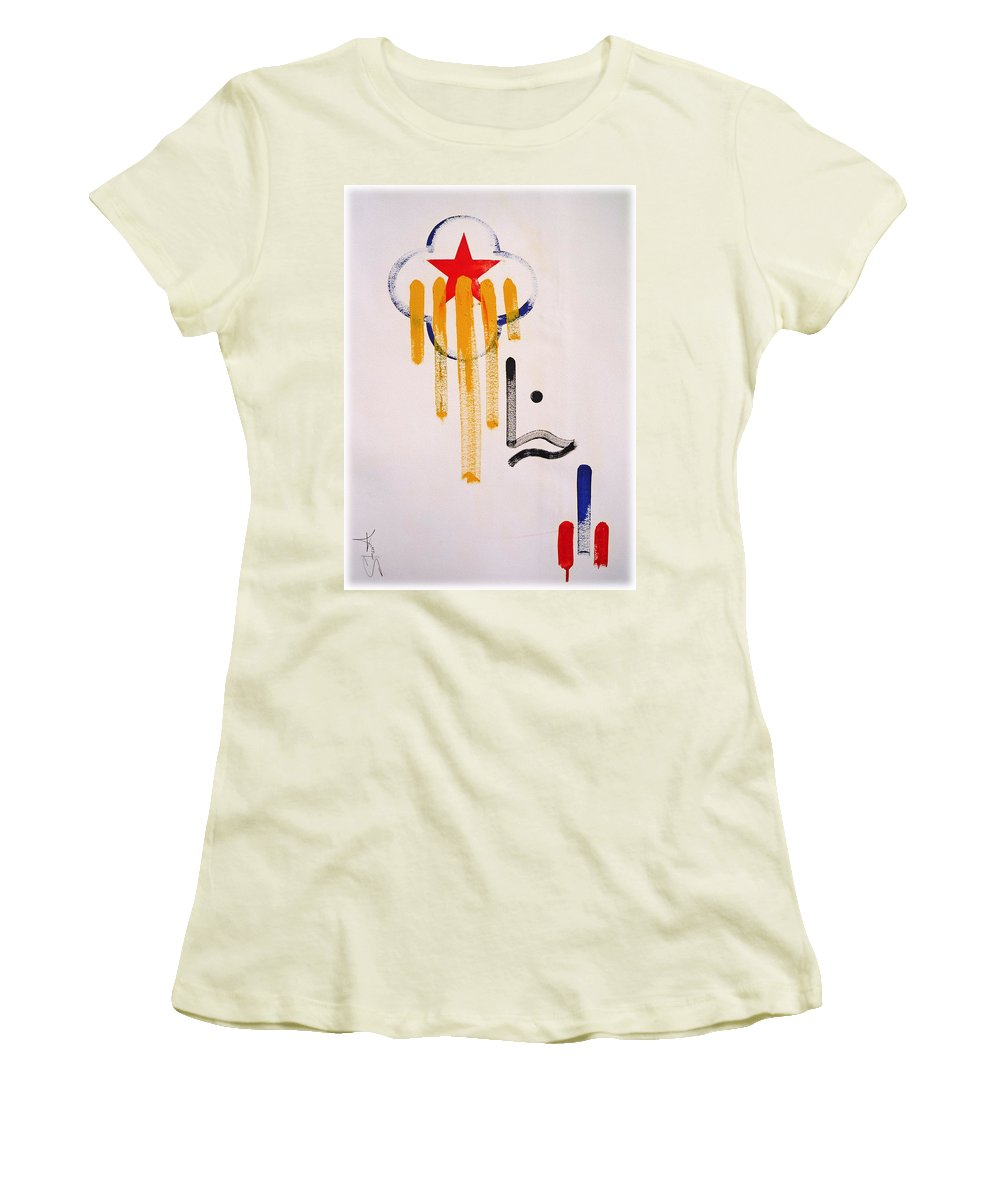 Drawing Women's T-Shirt (Athletic Fit) featuring the painting Great American Image by Charles Stuart