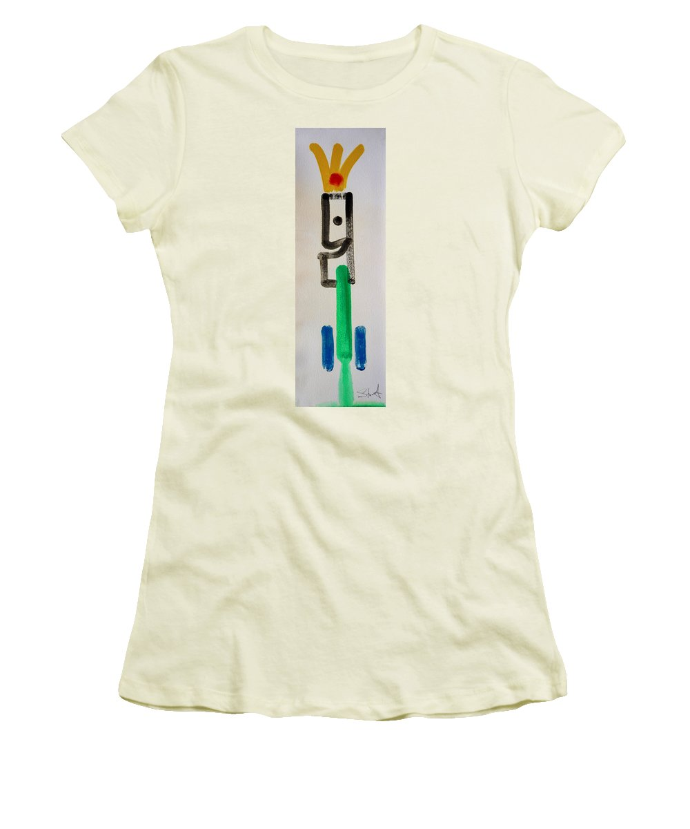 King Women's T-Shirt (Athletic Fit) featuring the painting Green King by Charles Stuart