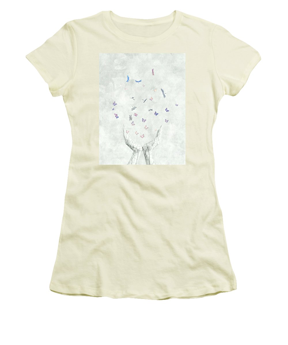 Surreal Women's T-Shirt (Athletic Fit) featuring the digital art Heal by Jacky Gerritsen