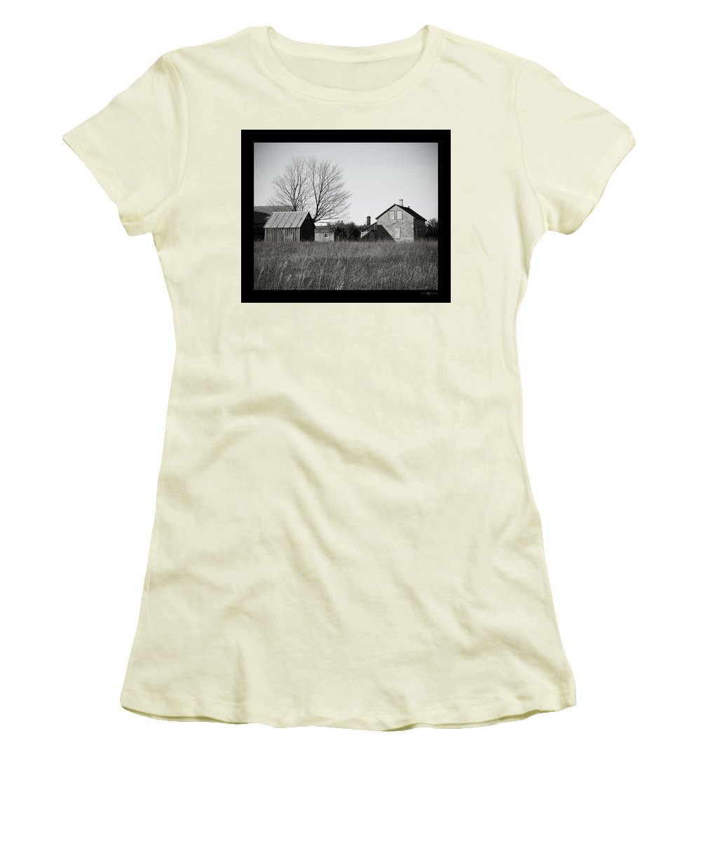 Deserted Women's T-Shirt (Athletic Fit) featuring the photograph Homestead by Tim Nyberg