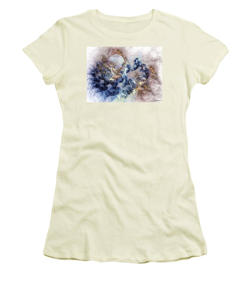Abstract Women's T-Shirt (Athletic Fit) featuring the digital art Ion Storm by Casey Kotas