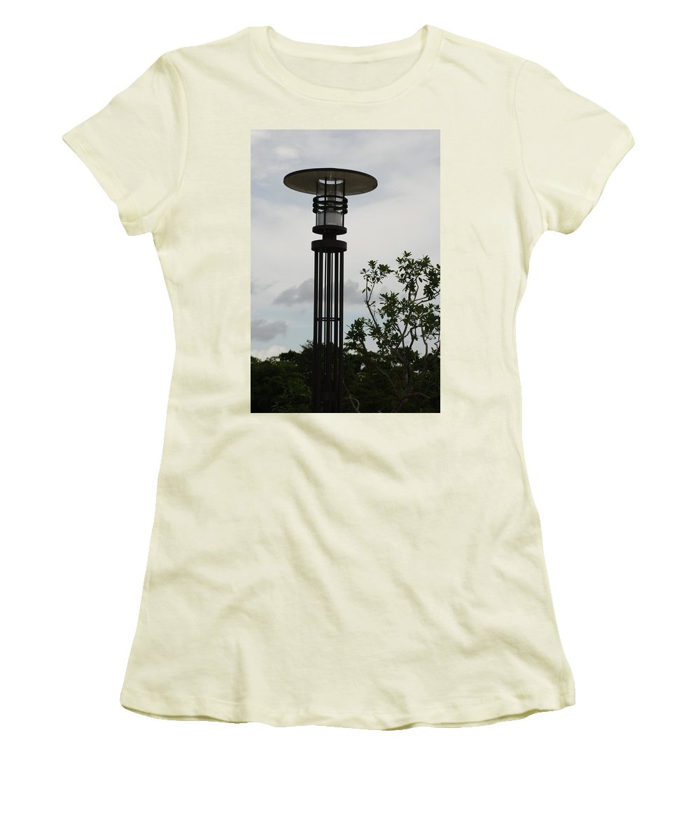 Street Lamp Women's T-Shirt (Athletic Fit) featuring the photograph Japanese Street Lamp by Rob Hans