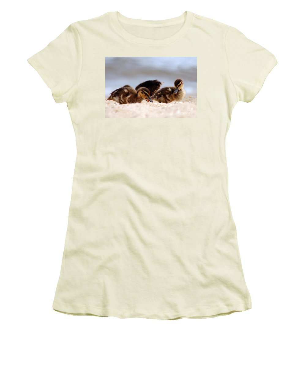 Clay Women's T-Shirt (Athletic Fit) featuring the photograph Kids Will Play by Clayton Bruster