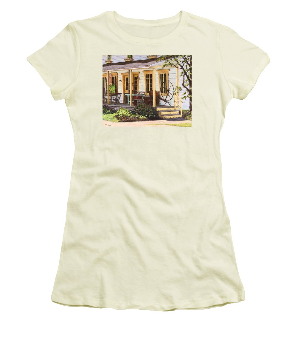 Urban Women's T-Shirt (Athletic Fit) featuring the painting Knowlton Lac Brome by Richard T Pranke
