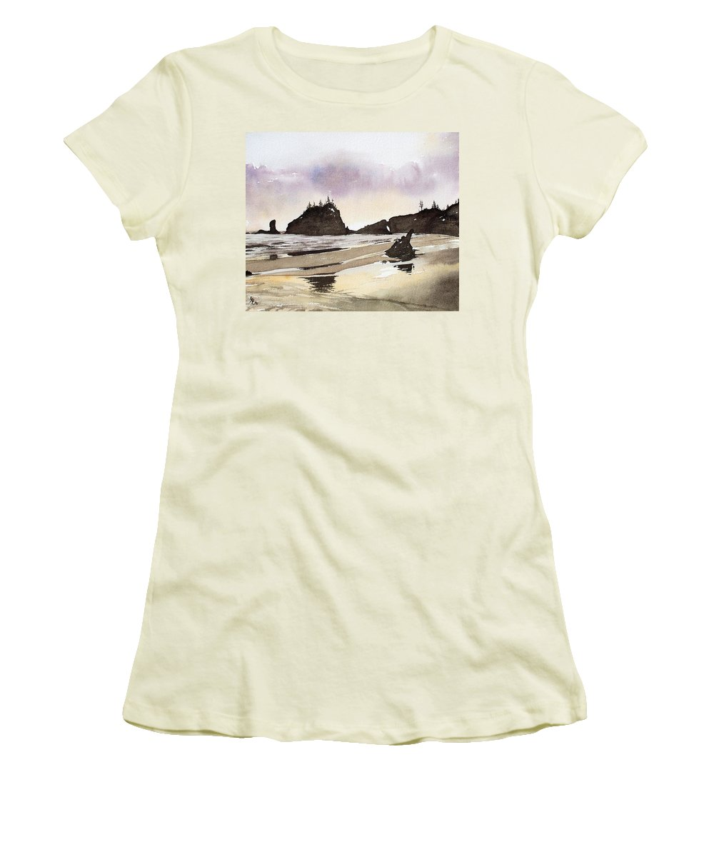Washington Women's T-Shirt (Athletic Fit) featuring the painting Lapush by Gale Cochran-Smith