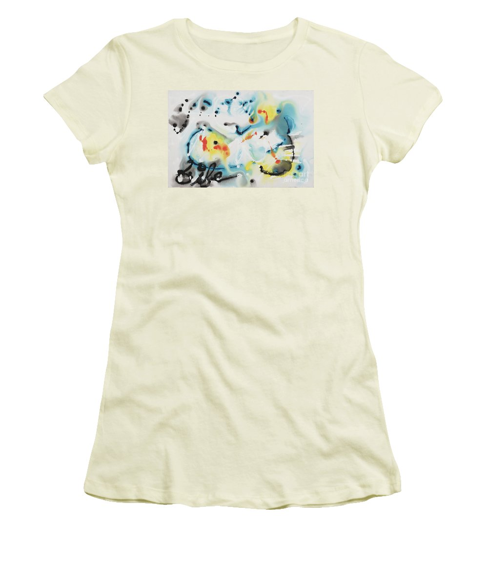 Life Women's T-Shirt (Athletic Fit) featuring the painting Life by Nadine Rippelmeyer