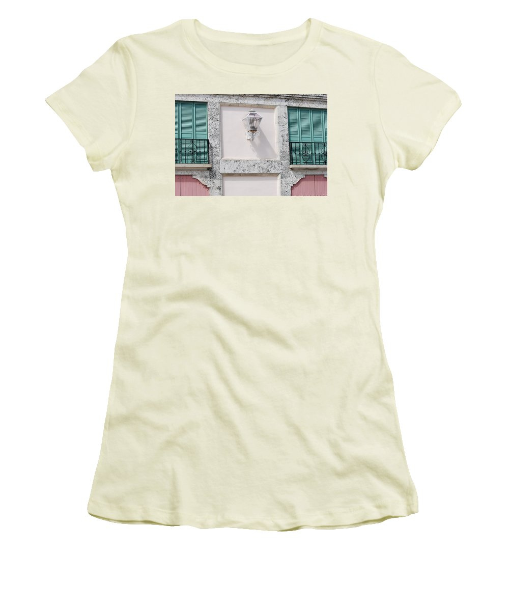 Neon Women's T-Shirt (Athletic Fit) featuring the photograph Light On The Wall by Rob Hans