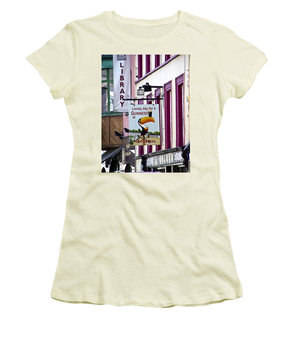 Irish Women's T-Shirt (Athletic Fit) featuring the photograph Lovely Day For A Guinness Macroom Ireland by Teresa Mucha