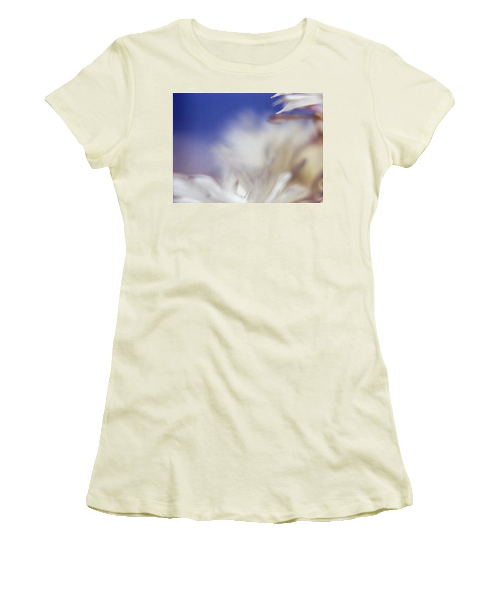 Flower Women's T-Shirt (Athletic Fit) featuring the photograph Macro Flower 1 by Lee Santa