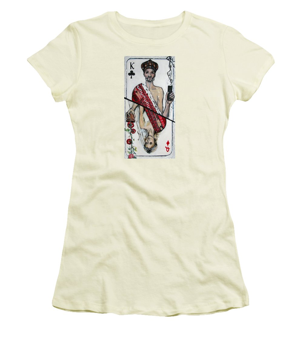 Marriage Women's T-Shirt (Athletic Fit) featuring the painting Marriage by Mima Stajkovic