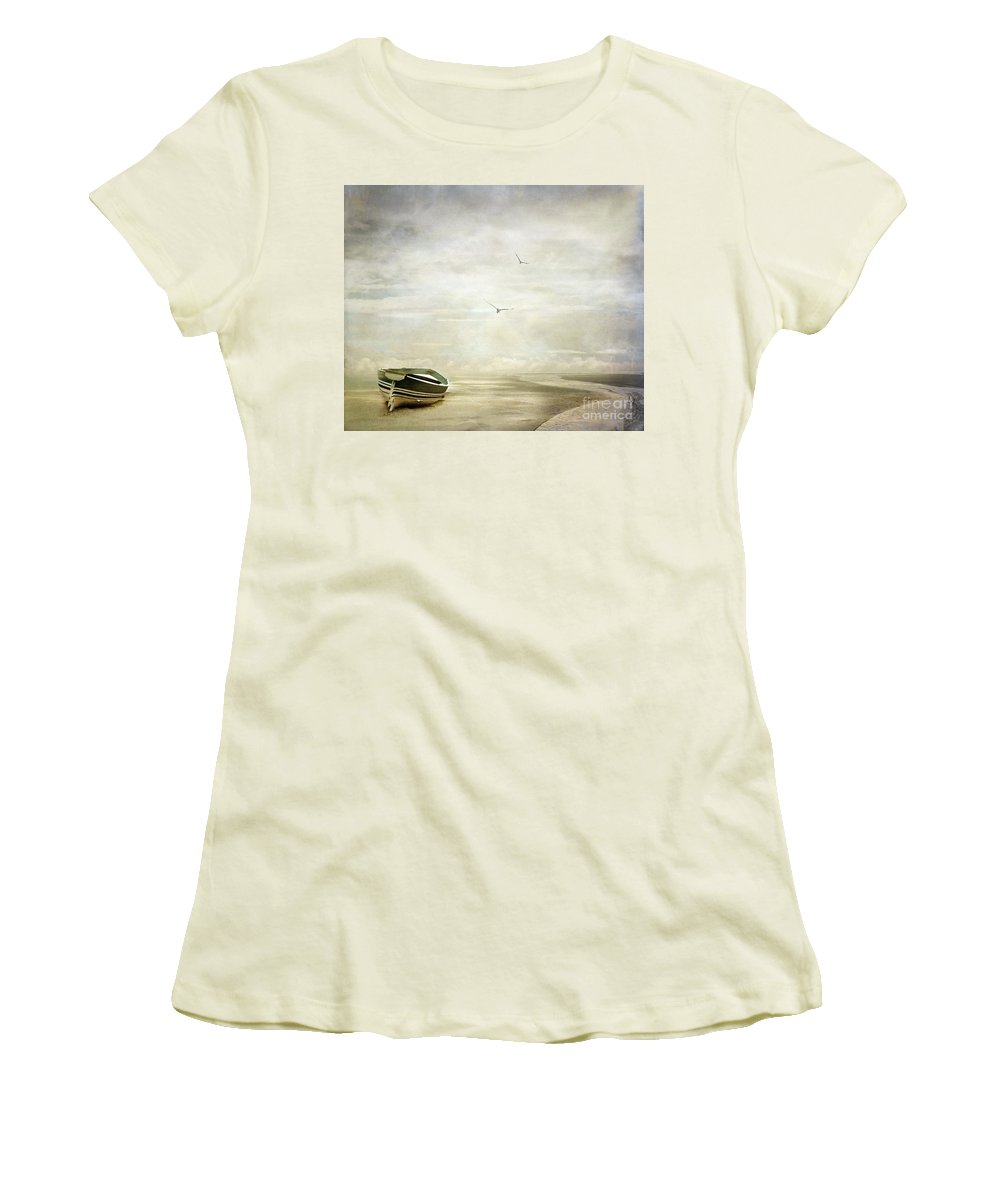 Beach Women's T-Shirt (Athletic Fit) featuring the photograph Memories by Jacky Gerritsen