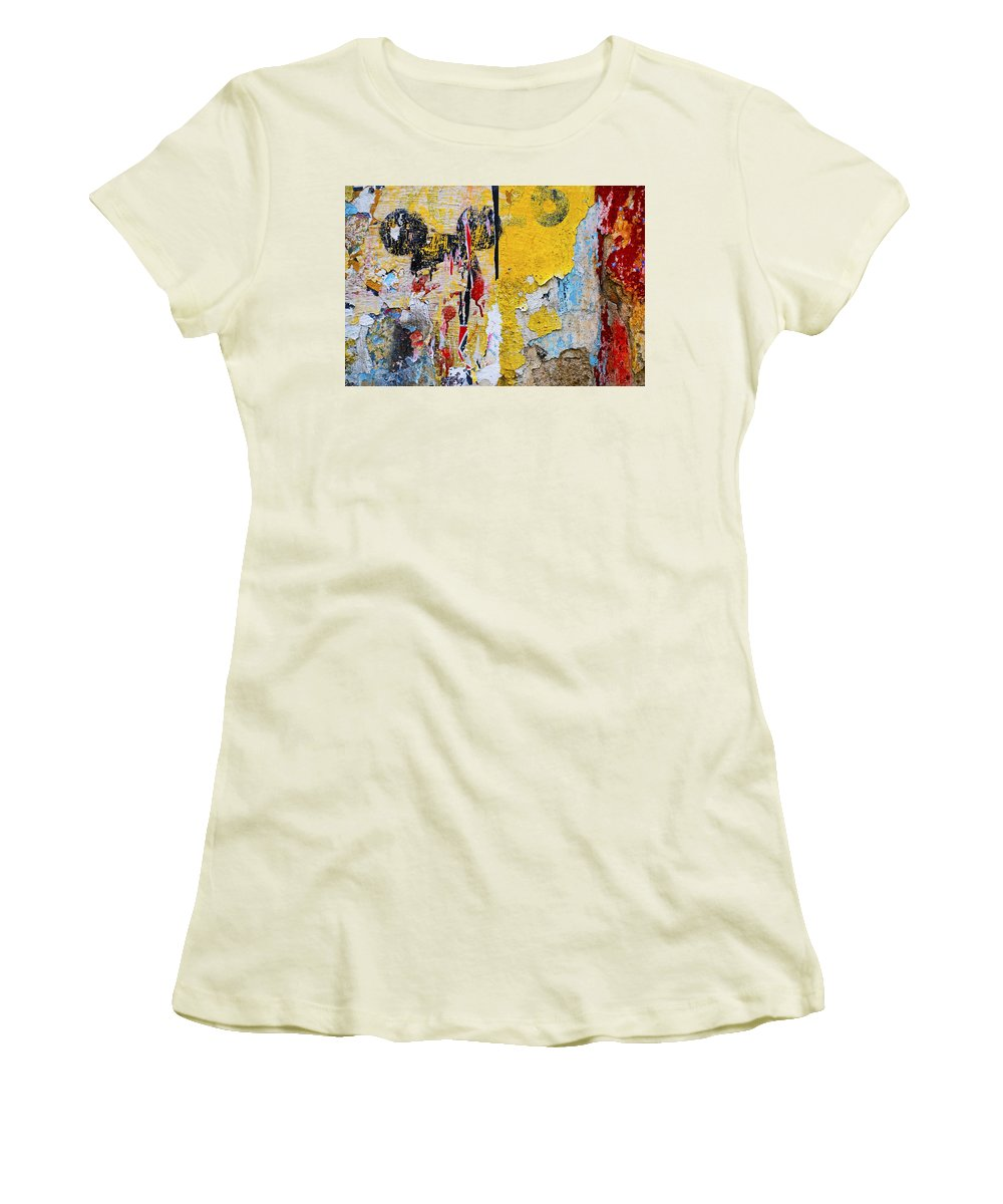 Mickey Mouse Women's T-Shirt (Athletic Fit) featuring the photograph Mickeys Nightmare by Skip Hunt