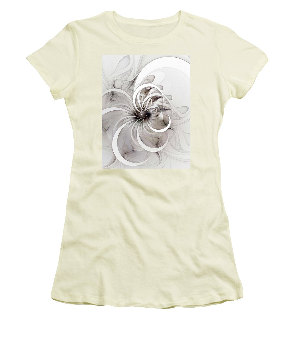 Digital Art Women's T-Shirt (Athletic Fit) featuring the digital art Monochrome Flower by Amanda Moore