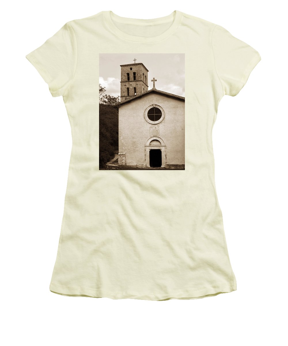 Curch Women's T-Shirt (Athletic Fit) featuring the photograph Nice Old Church For Wedding by Marilyn Hunt