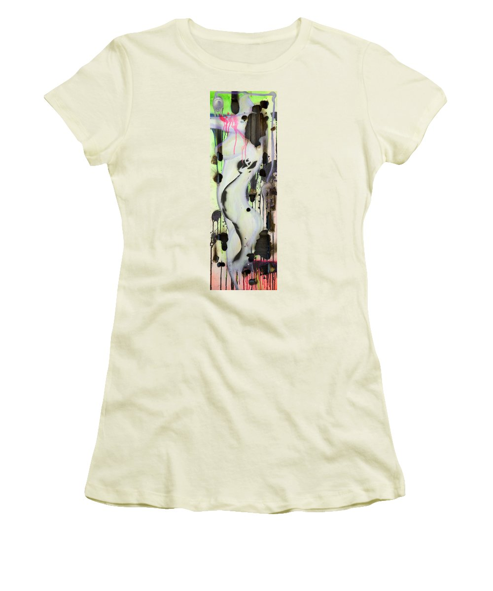 Woman Women's T-Shirt (Athletic Fit) featuring the painting No Winners In Love by Sheridan Furrer