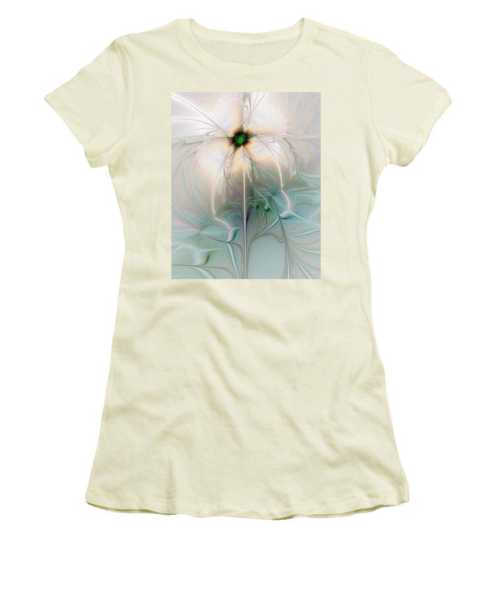 Digital Art Women's T-Shirt (Athletic Fit) featuring the digital art Nostalgia by Amanda Moore