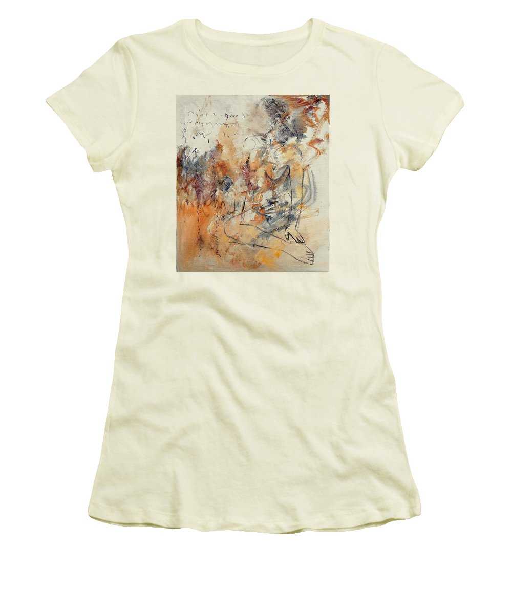Girl Women's T-Shirt (Athletic Fit) featuring the painting Nude 679070 by Pol Ledent