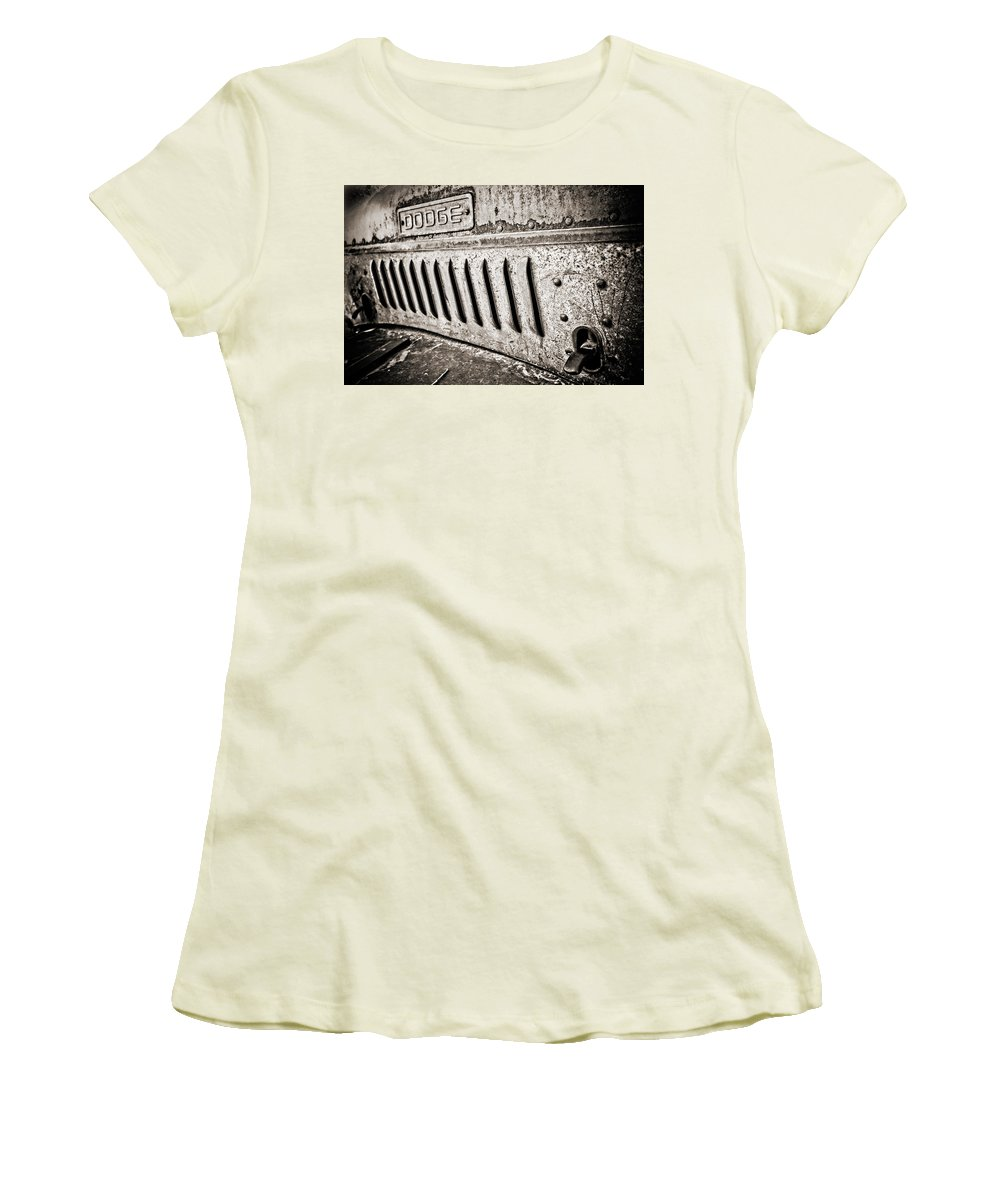 Americana Women's T-Shirt (Athletic Fit) featuring the photograph Old Dodge Grille by Marilyn Hunt