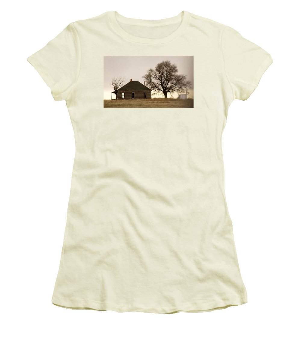 Americana Women's T-Shirt (Athletic Fit) featuring the photograph Once Upon A Time In West Texas by Marilyn Hunt