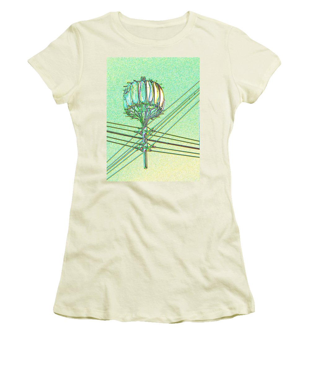 Seattle Women's T-Shirt (Athletic Fit) featuring the digital art Pacific Science Center Lamp by Tim Allen