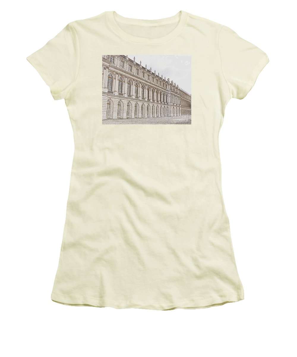 France Women's T-Shirt (Athletic Fit) featuring the photograph Palace Of Versailles by Amanda Barcon