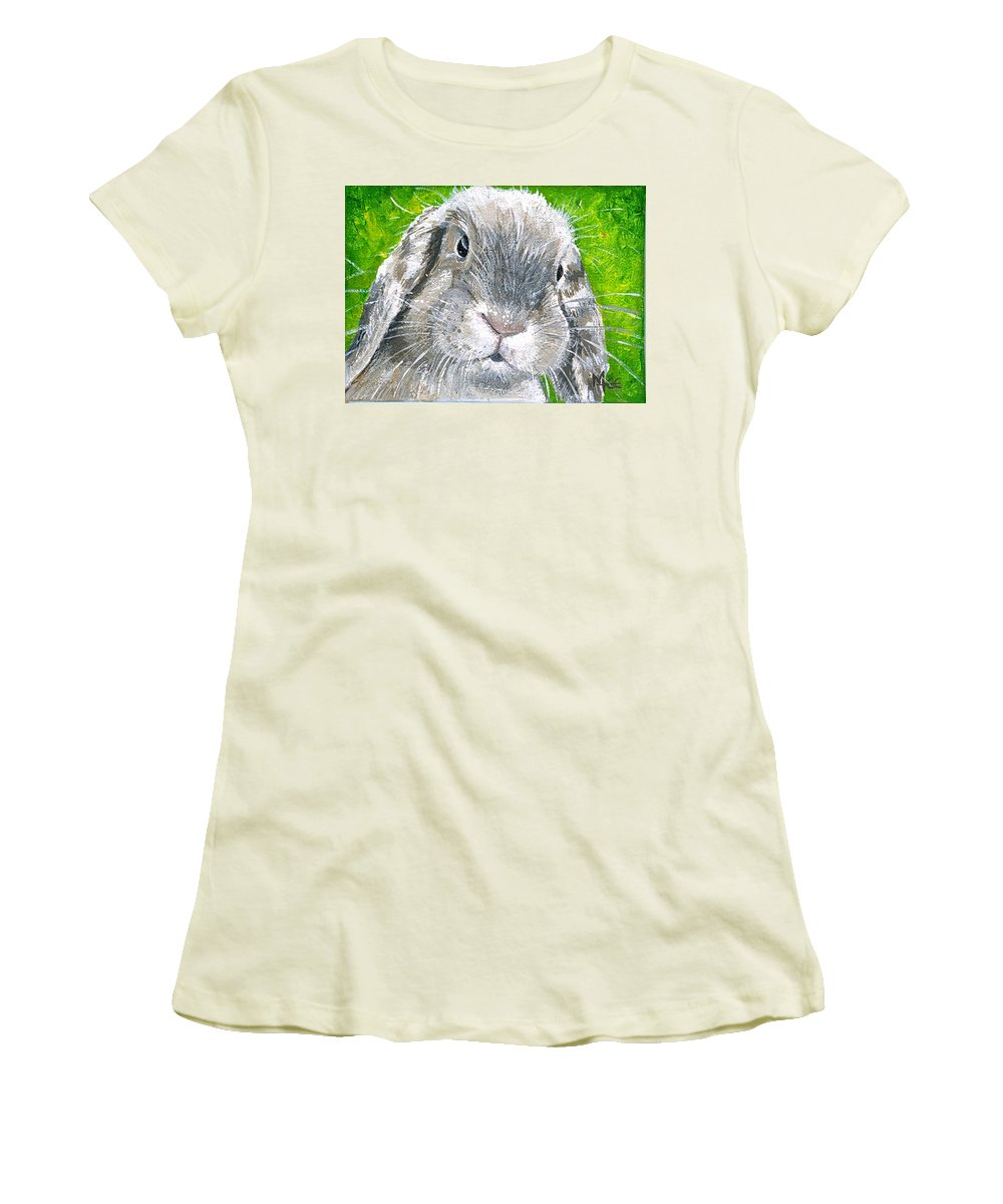 Charity Women's T-Shirt (Athletic Fit) featuring the painting Parsnip by Mary-Lee Sanders