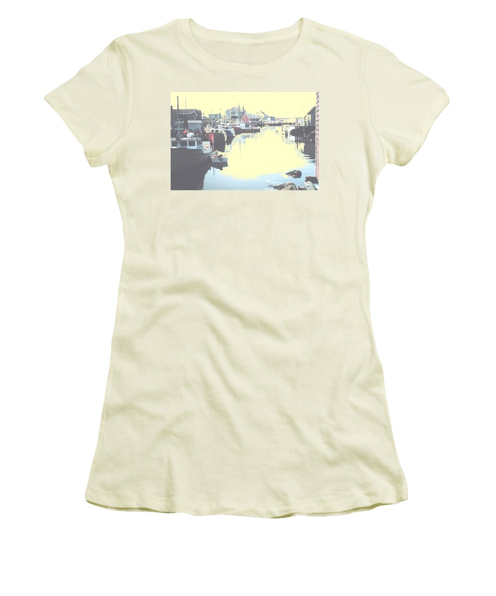 Nova Scotia Women's T-Shirt (Athletic Fit) featuring the photograph Peggy by Ian MacDonald