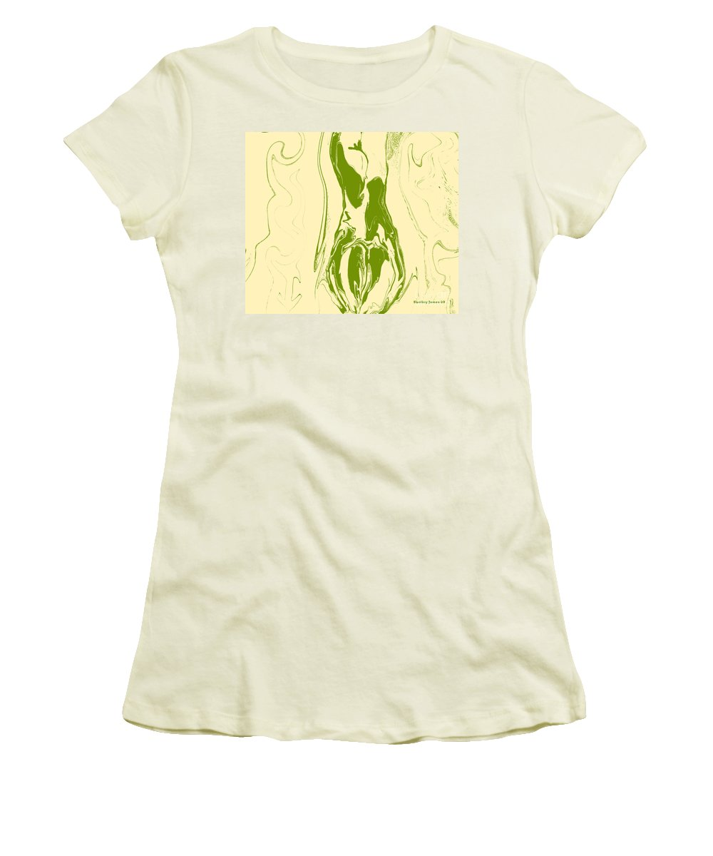 Perspective Women's T-Shirt (Athletic Fit) featuring the digital art Perspective by Shelley Jones