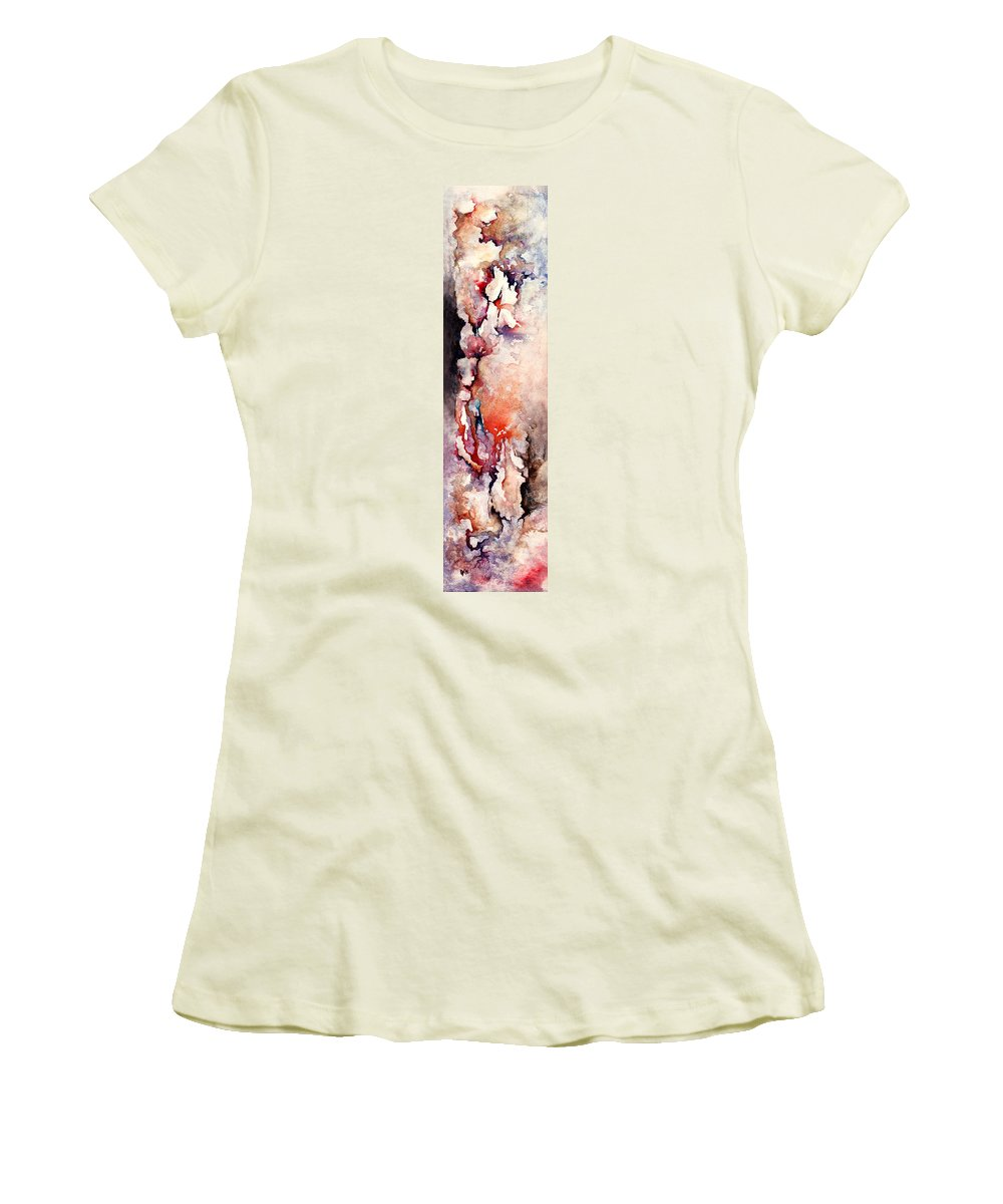Abstract Women's T-Shirt (Athletic Fit) featuring the painting Places In The Heart by Rachel Christine Nowicki