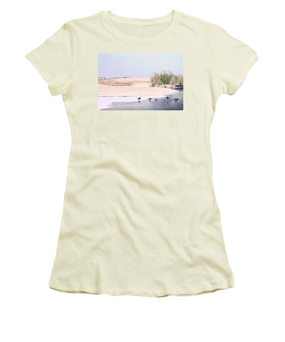 Landscape Women's T-Shirt (Athletic Fit) featuring the photograph Powell Gardens In Winter by Steve Karol