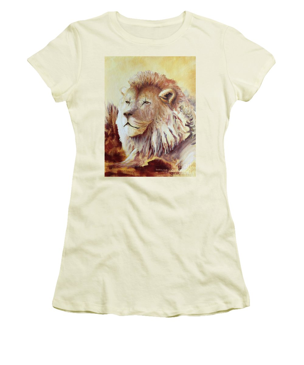 Animal Women's T-Shirt (Athletic Fit) featuring the painting Proud by Todd A Blanchard