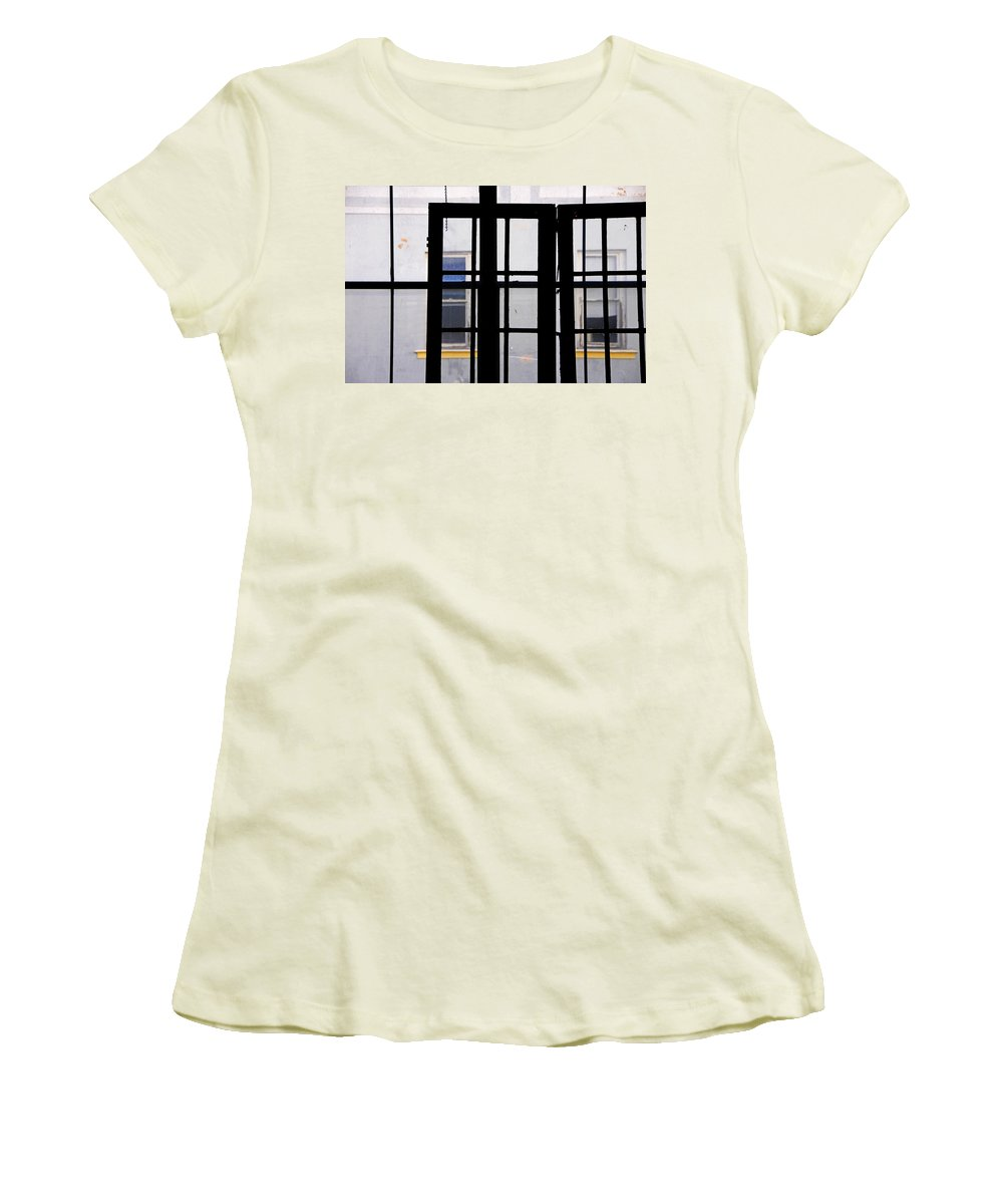 Skip Hunt Women's T-Shirt (Athletic Fit) featuring the photograph Rear Window 1 by Skip Hunt