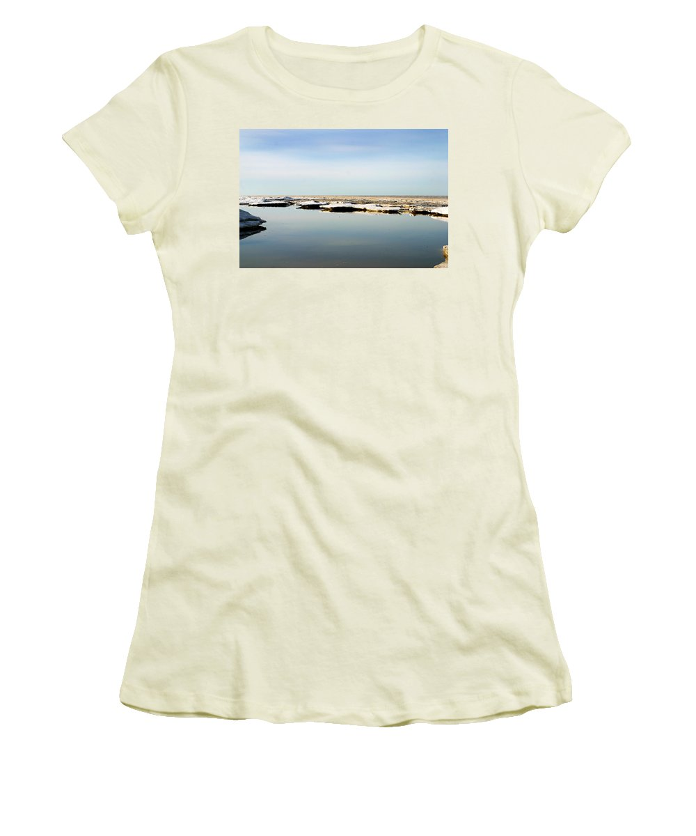 Ocean Women's T-Shirt (Athletic Fit) featuring the photograph River To The Arctic Ocean by Anthony Jones