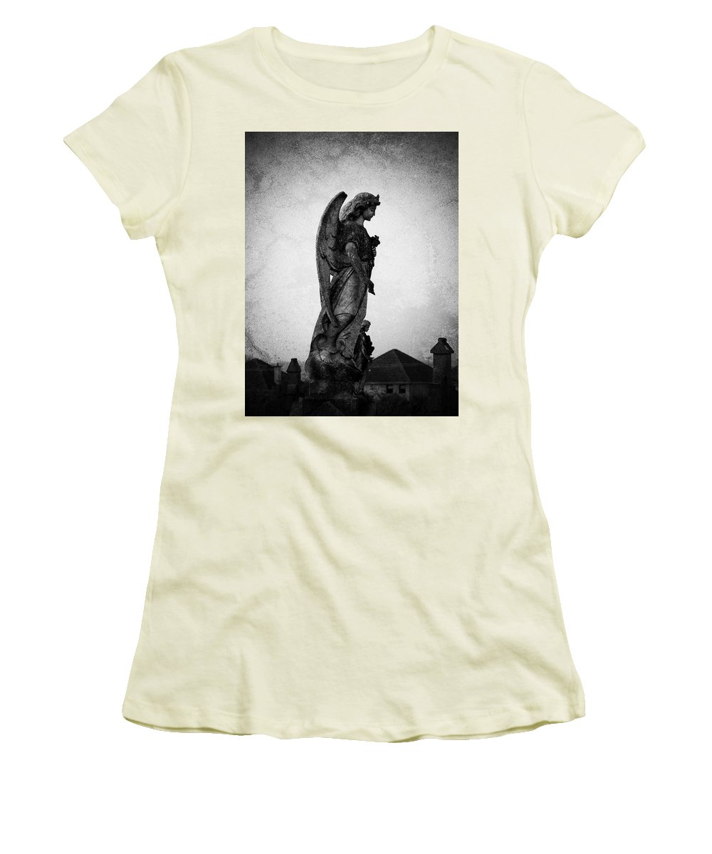 Roscommon Women's T-Shirt (Athletic Fit) featuring the photograph Roscommonn Angel No 4 by Teresa Mucha