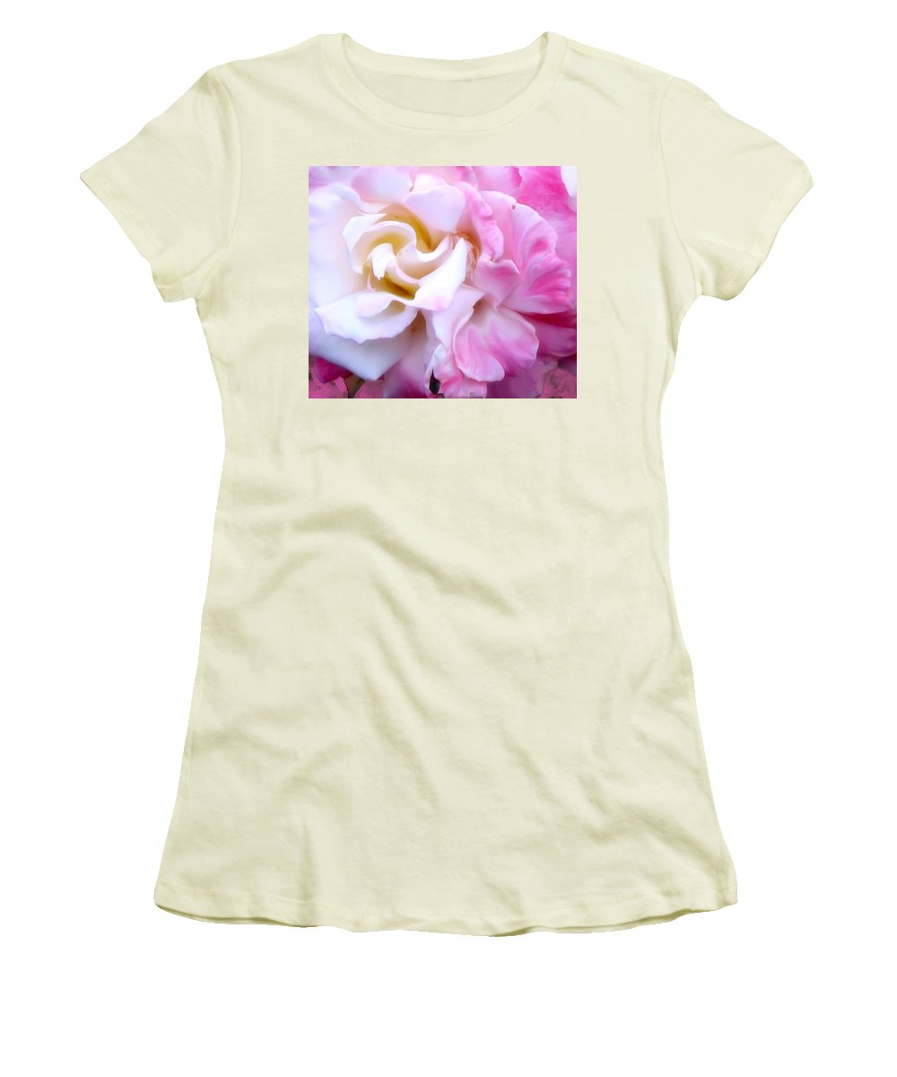 Flowers Women's T-Shirt (Athletic Fit) featuring the photograph Rose by Karen W Meyer
