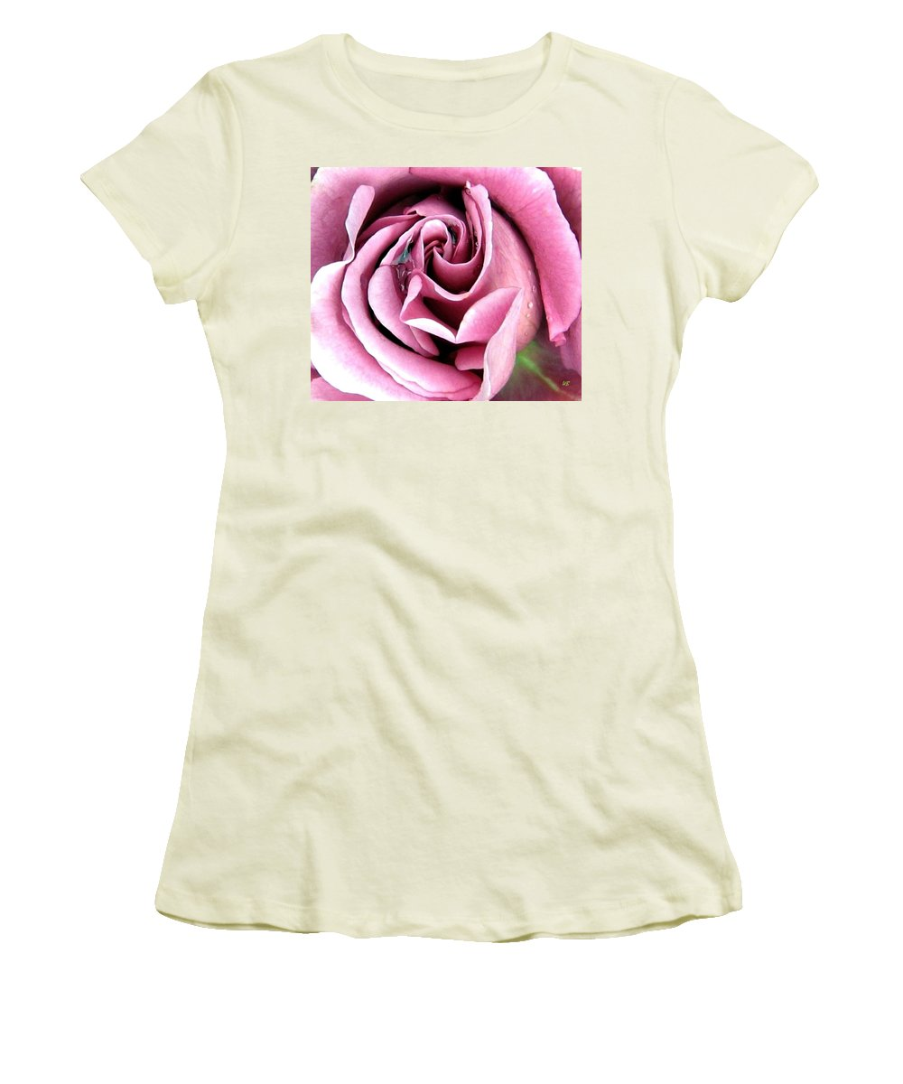 Romantic Women's T-Shirt (Athletic Fit) featuring the photograph Roses Roses by Will Borden