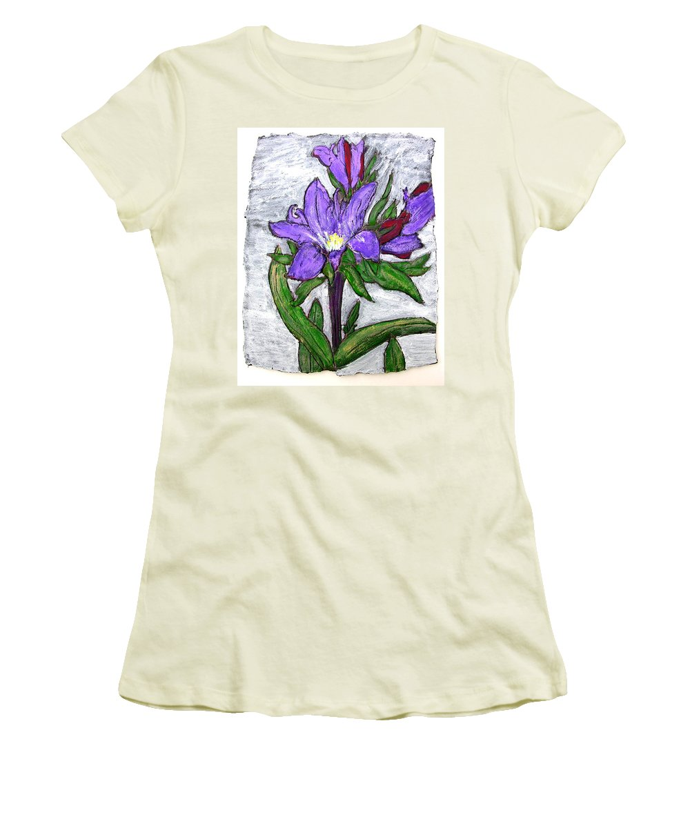 Flower Women's T-Shirt (Athletic Fit) featuring the painting Royalty by Wayne Potrafka