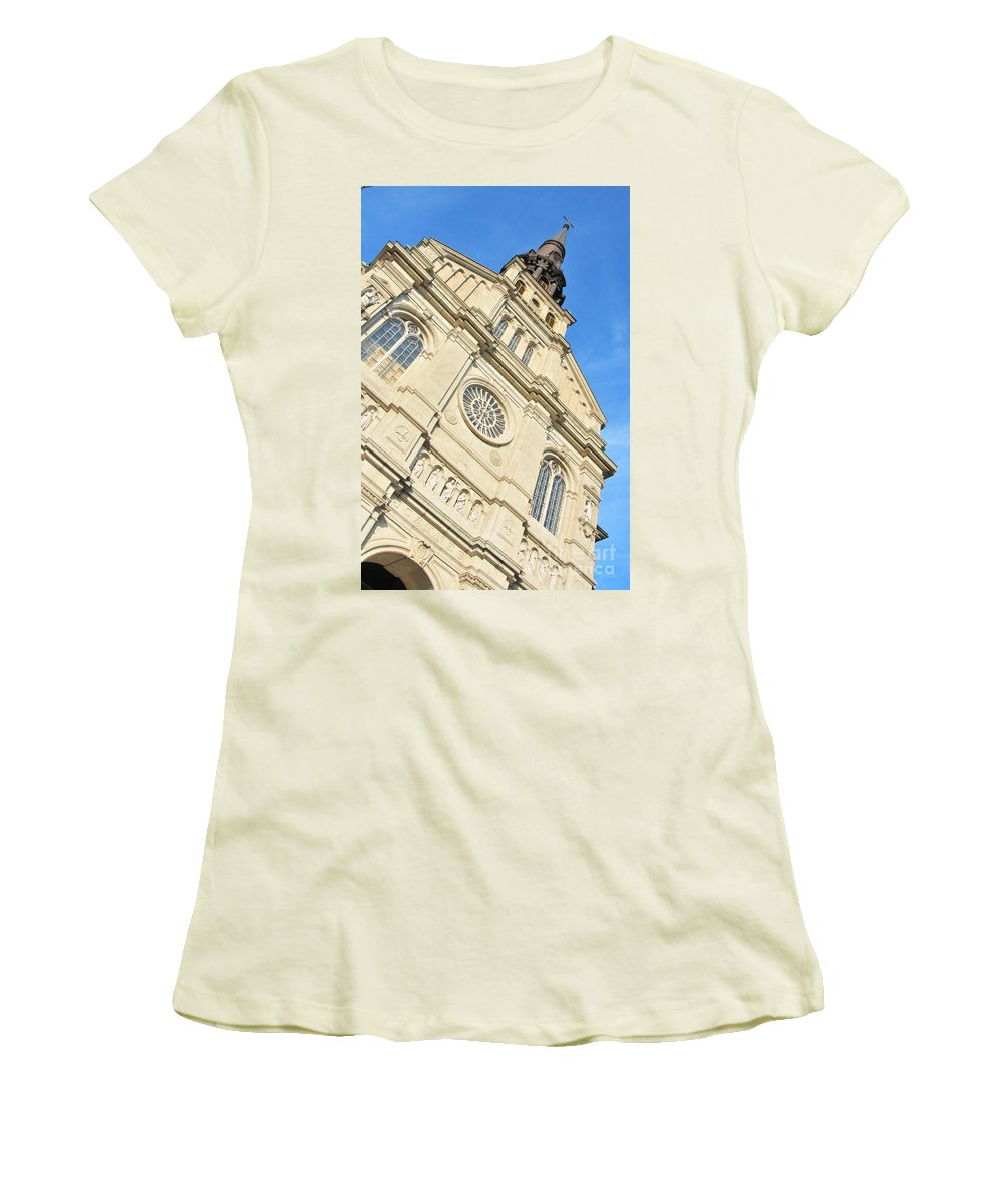Baptiste Women's T-Shirt (Athletic Fit) featuring the photograph Saint Jean Baptiste Church In Quebec City by Joe Ng