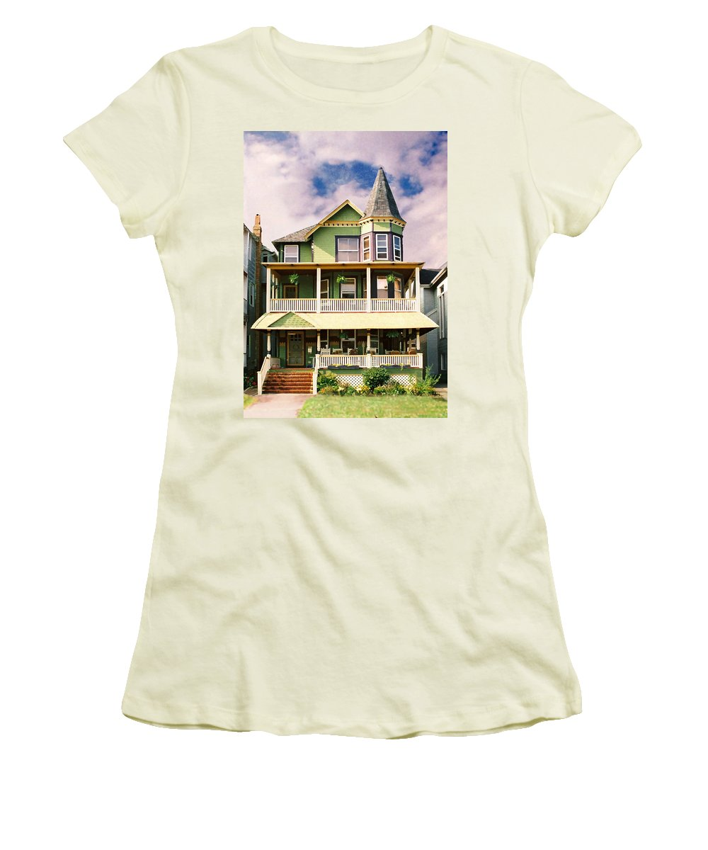 Archtiecture Women's T-Shirt (Athletic Fit) featuring the photograph Sisters Panel 1 Of Triptych by Steve Karol