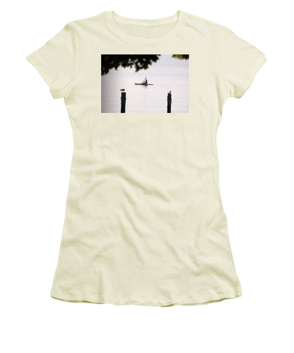 Clay Women's T-Shirt (Athletic Fit) featuring the photograph Solitude by Clayton Bruster