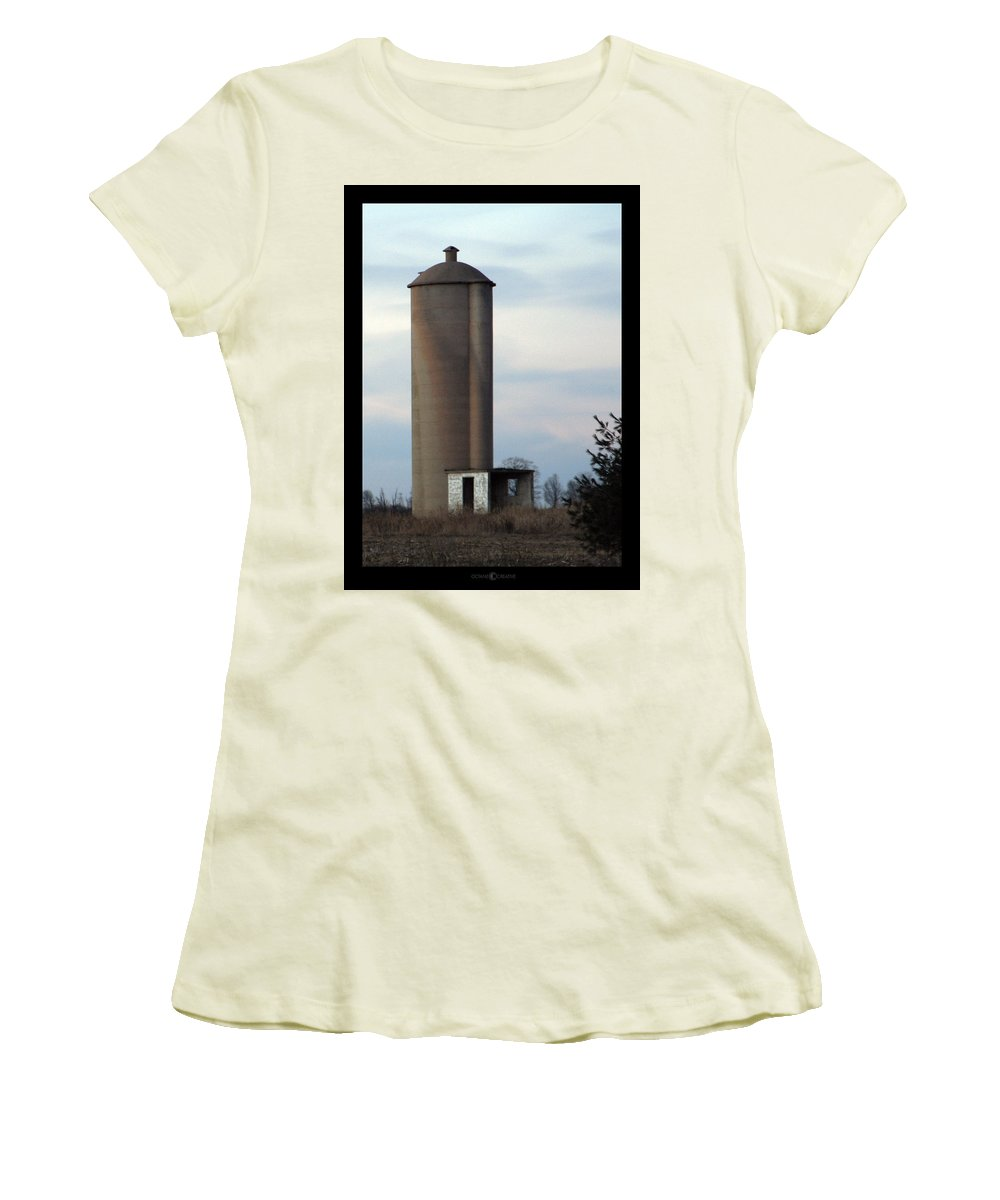 Silo Women's T-Shirt (Athletic Fit) featuring the photograph Solo Silo by Tim Nyberg