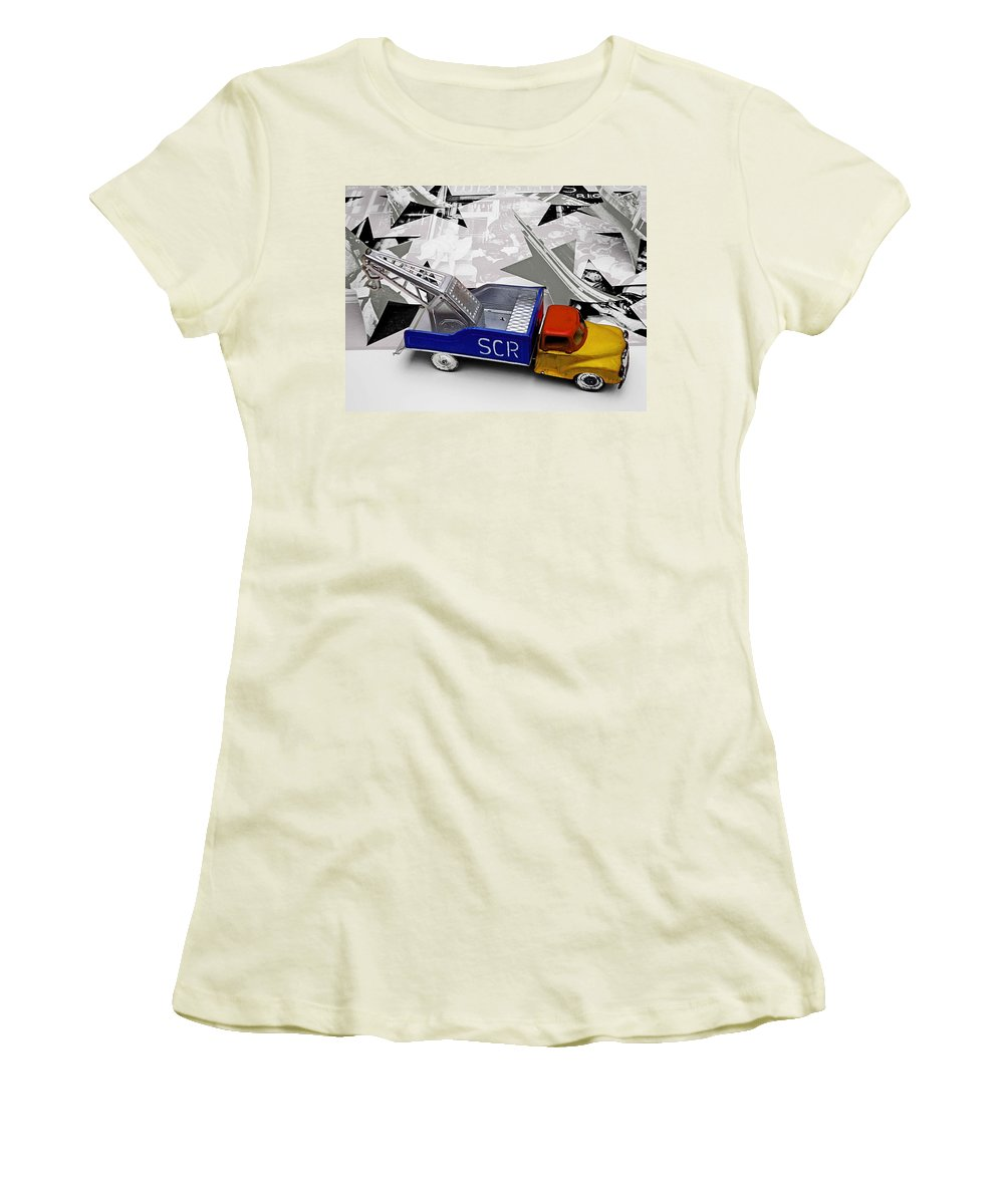 Marilyn Women's T-Shirt (Athletic Fit) featuring the photograph Some Like It Hot by Charles Stuart