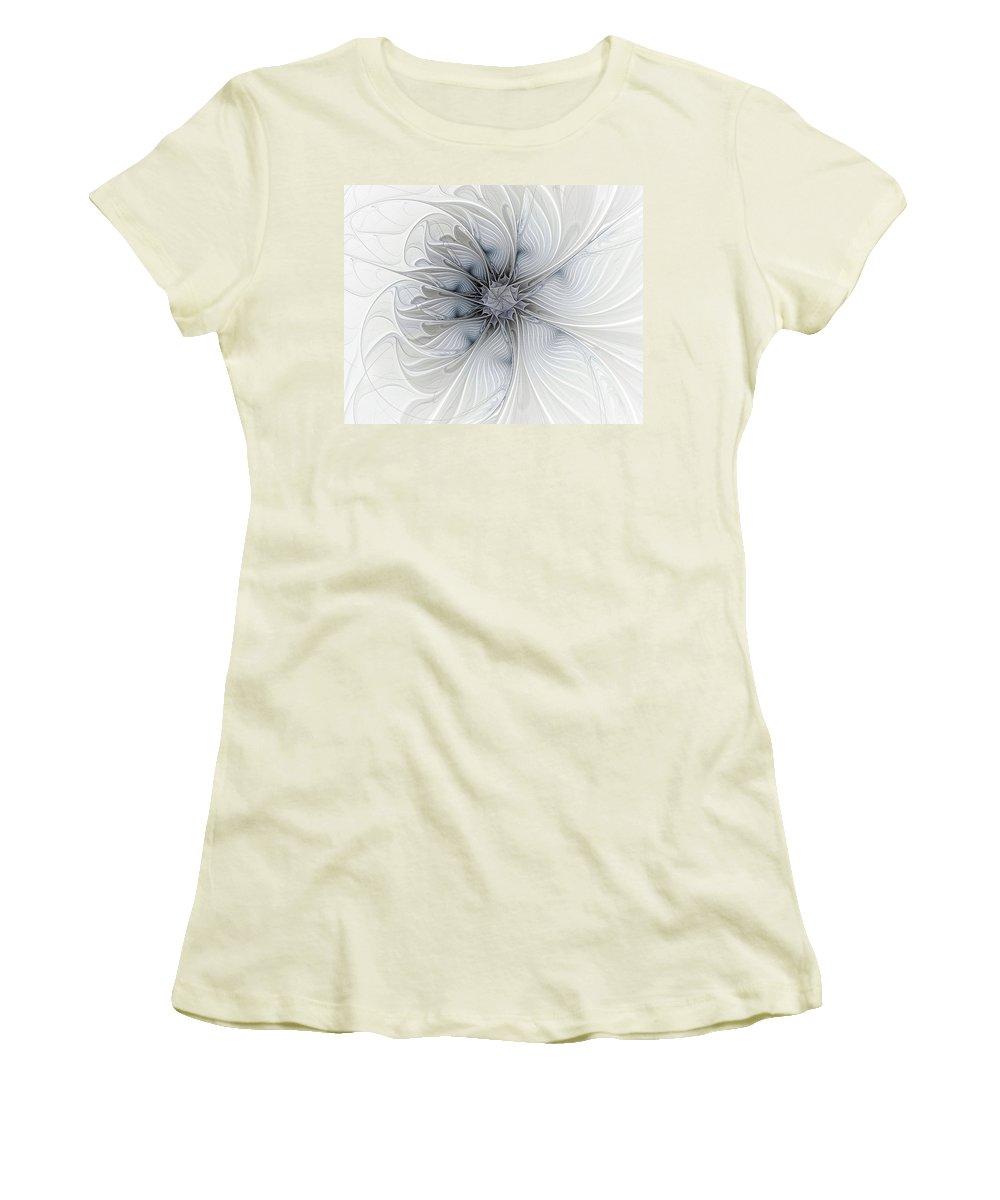 Digital Art Women's T-Shirt (Athletic Fit) featuring the digital art Something Blue by Amanda Moore