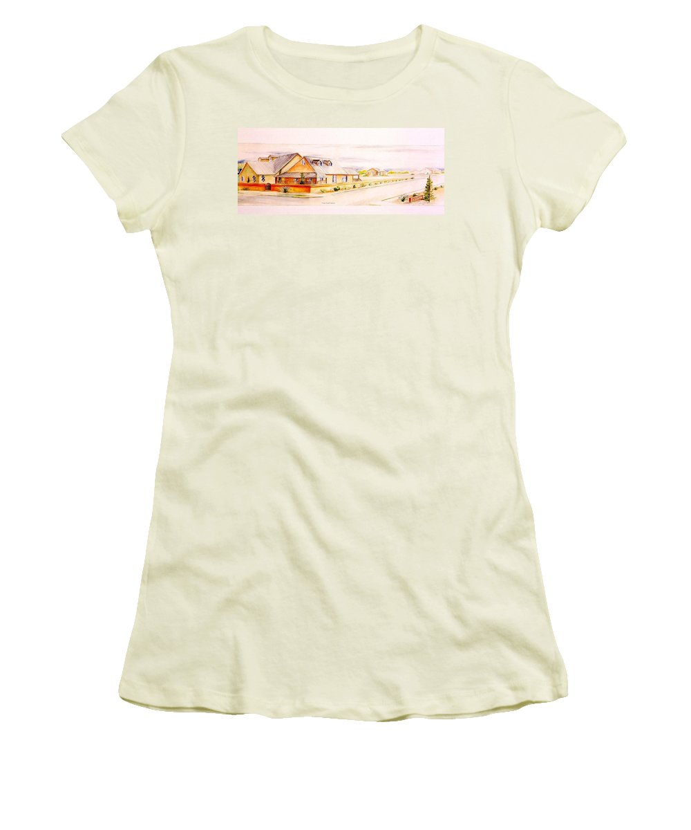 Architectural Renderings Women's T-Shirt (Athletic Fit) featuring the painting Subdivison Rendering by Eric Schiabor