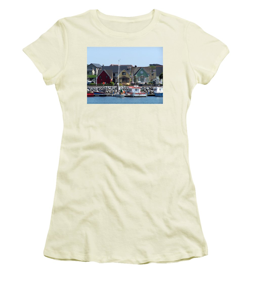 Irish Women's T-Shirt (Athletic Fit) featuring the photograph Summer Cottages Dingle Ireland by Teresa Mucha