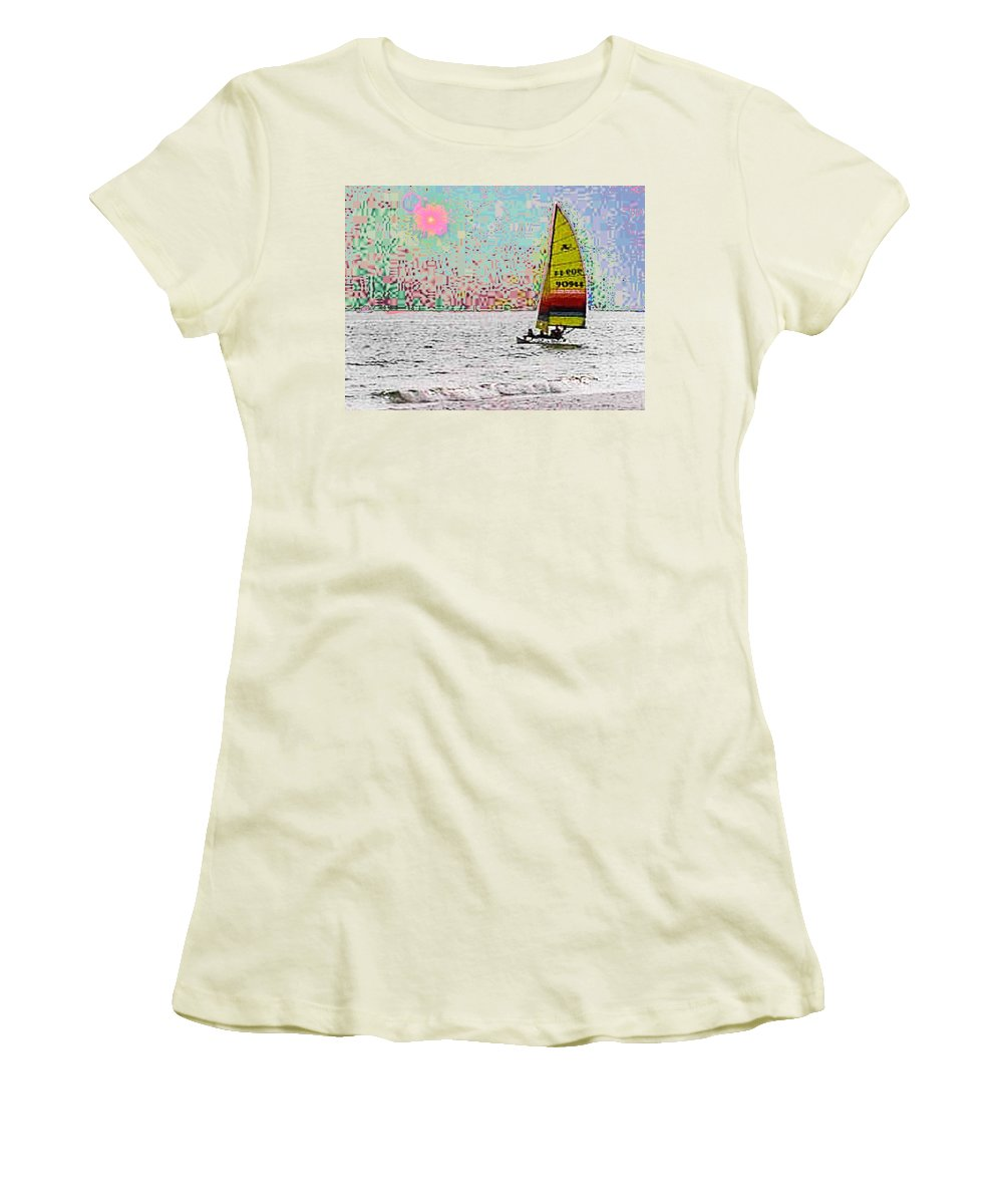 Sail Women's T-Shirt (Athletic Fit) featuring the photograph Summer Sailin by Tim Allen