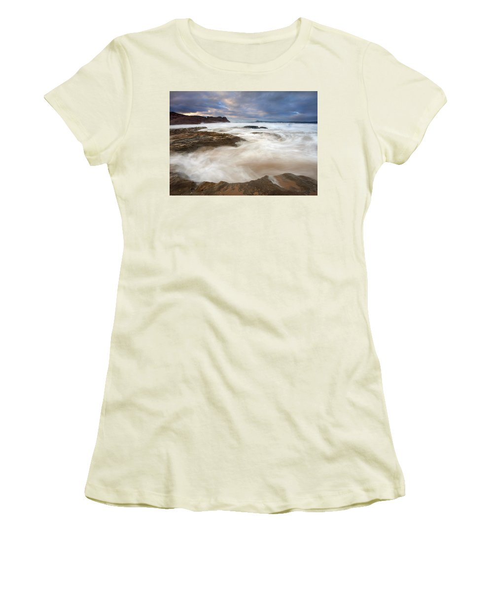 Bowl Women's T-Shirt (Athletic Fit) featuring the photograph Tempestuous Sea by Mike Dawson