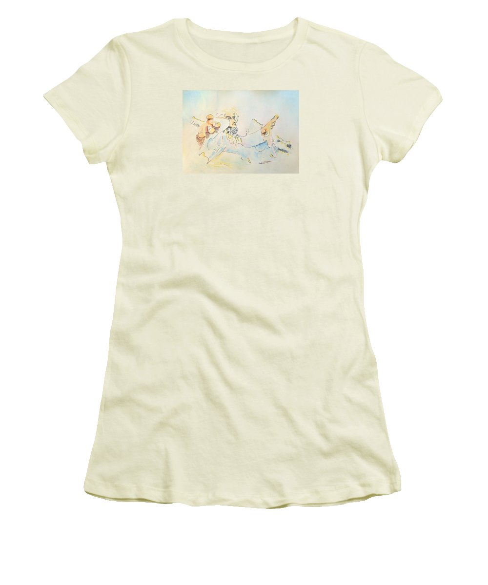 Music Women's T-Shirt (Athletic Fit) featuring the painting The Conductor by Dave Martsolf
