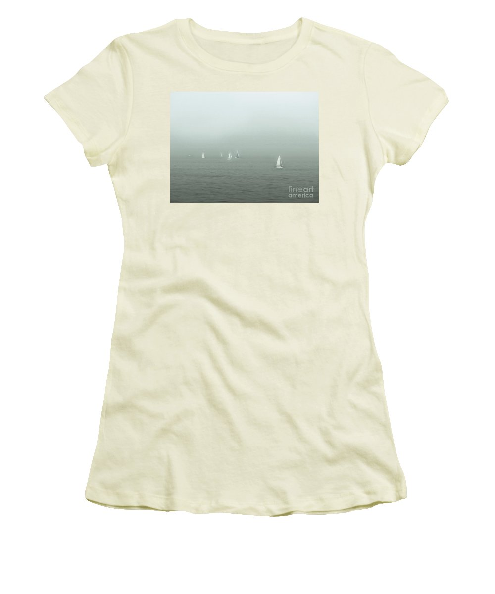 Blue Women's T-Shirt (Athletic Fit) featuring the photograph To Come Upon The Solstice And Have No Fear by Dana DiPasquale